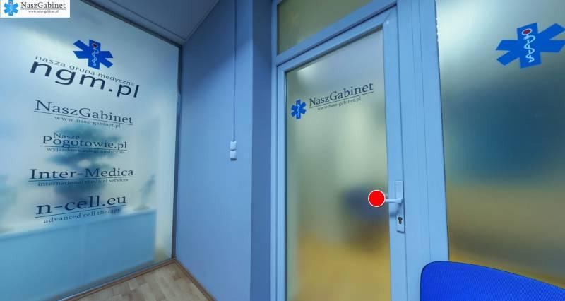 niebieski pokój w gabinecie disulmed wrocław
